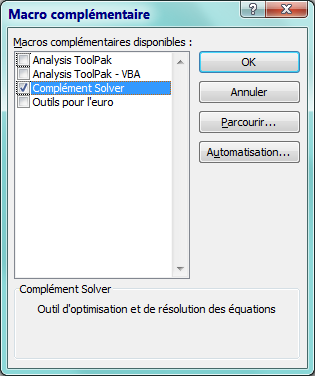 Macro Complementaire Solver